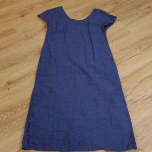 Blue linen Poetry dress